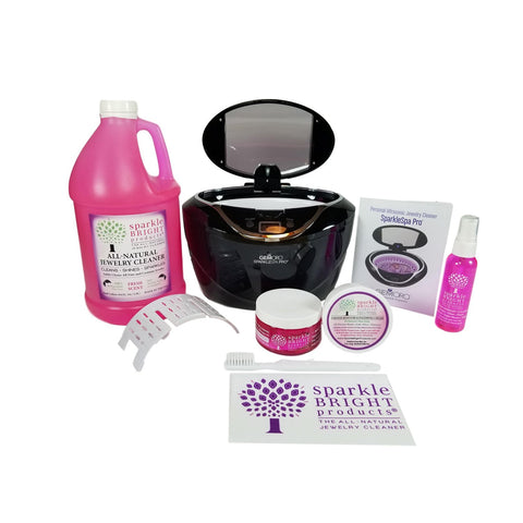 GemOro - SparkleSpa Pro Luxury Ultrasonic Kit (black or gray) - Sparkle Bright Products