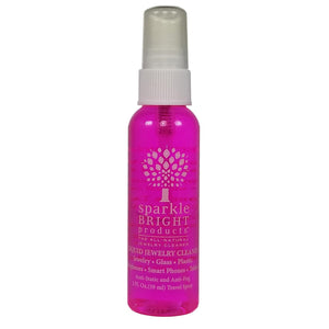Sparkle Bright Products All-Natural Jewelry Cleaner | Liquid Jewelry Cleaning Solution, 2oz. Travel Spray - Sparkle Bright Products