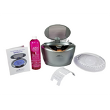 GemOro SparkleSpa Pro Ultrasonic 12Oz. Jewelry Cleaner Kit (black or gray) - Sparkle Bright Products