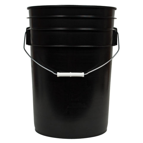 Black Bucket with Handle, 6 gal