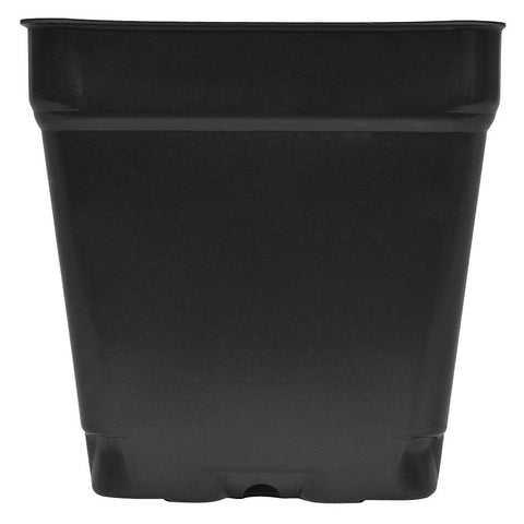 "Black Square Shuttle Pot, 3.5"" x 3.5"" x 3.5"""