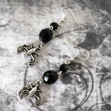Silver Bat Earrings on Surgical Stainless Steel Earring Wires