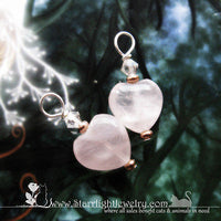 Handmade Rose Quartz Heart Gemstone Pendant - Charm