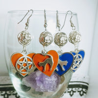 Cat Star Earring Blue Or Orange