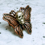 Deaths Head Adjustable Copper Ring