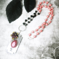 Razor Blades And Roses Necklace