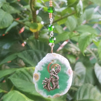 Green Agate Asian Dragon Sun Catcher
