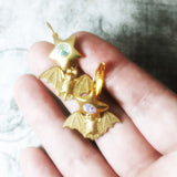 Brass Bat Star Earrings