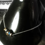 Labradorite Solitary Stone Necklace