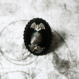 Black Bat Spike Ring