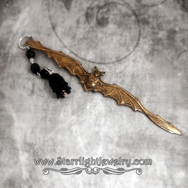 Brass Bat And Steel Flower Bookmark 5 color choices