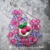 Cherry Locket Goth Lolita Hot Pink Necklace