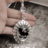 Bat Sun Catcher Window Hanger Silver and Crystal