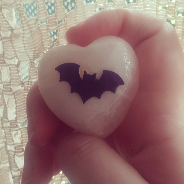 Bat Decor Stone Bat Heart Altar Home Accessories