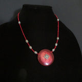 Celtic Carnival Glass Beaded Necklace