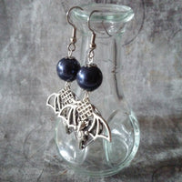 Filigree Celtic Bat Earrings Surgical Stainless Steel Earring Wires