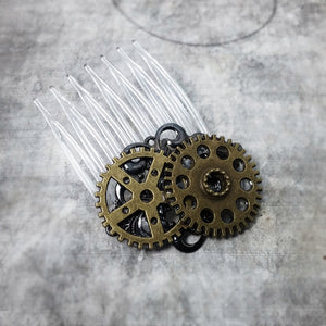 Brass Gear Wheels Hair Comb