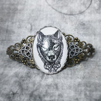 Celtic Wolf Barrette