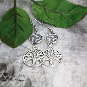 Tree Of Life Celtic Horse Earrings