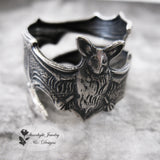 Beautiful Silver Adjustable Bat Ring or Midi