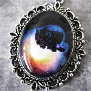 Astral Cat cameo Necklace