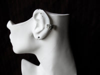 Wee Little Bat In Flight Adjustable Silver Ear Cuff