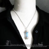 T Virus Resident Evil Inspired Blue Vial Necklace