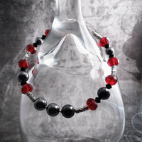 Red And Black Swarovski Crystal Pearl Bracelet