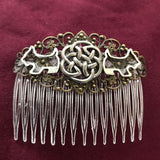 Handmade Celtic Scottie Dog Hair Comb Or Barrette