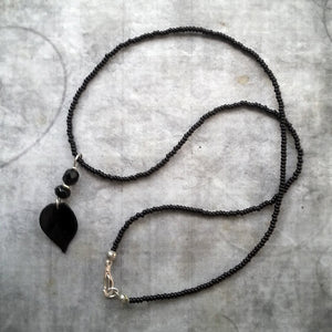 Black Rose Petal Necklace Gothic Lolita Jewelry Darling Dainty