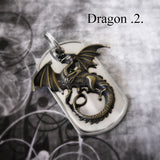 Brass Dragon Keychain Charm 2 options