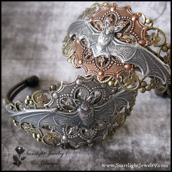 Long Wing Or Short Wing Filigree Bat Cuff
