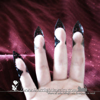 Gothic Steam Punk Filigree Finger Armor Nail Tip - Claw