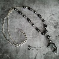 Hematite Dolphin Necklace