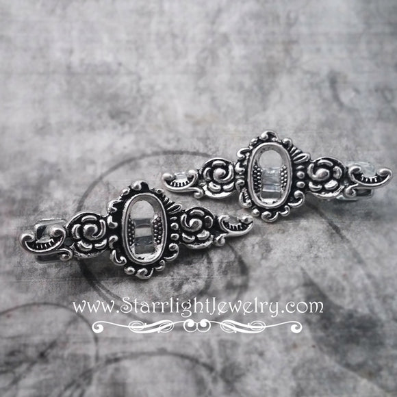 Victorian SteamPunk Keyhole Filigree Hair Clip Set