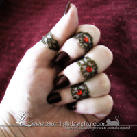 Handmade Finger Armor Filigree Midi Ring Set Of 4
