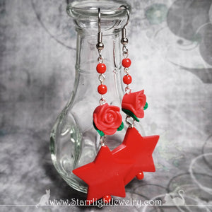 Roses Are Red And Sometimes So Are Stars Surgical Steel Earring