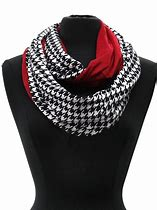 Checkered Black and White with Solid Red Infinity Scarf