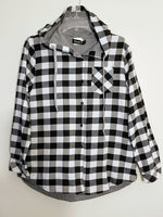 Lightweight Hooded Checkered Jacket (Asian Size)