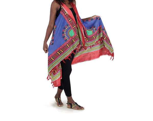 Traditional African Print Sarong With Arm Openings