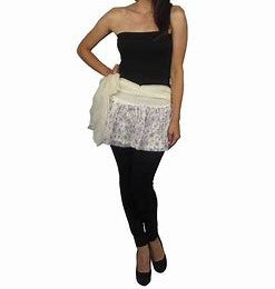 Floral Flared Mini Skirt with Wrap Around Belt