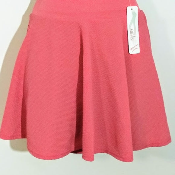Flared Comfortable Mini Skirts With Stretch Waistband