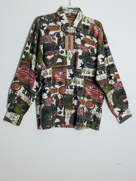 Multi-Color Print High Quality Men's Cotton Shirt