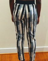 Stripe Print Pants