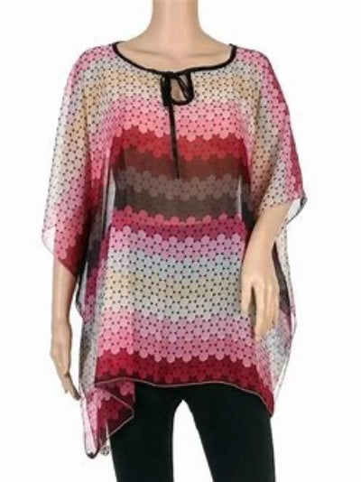 Sheer Cover-Up Multi-Color Ponchos (One Size)