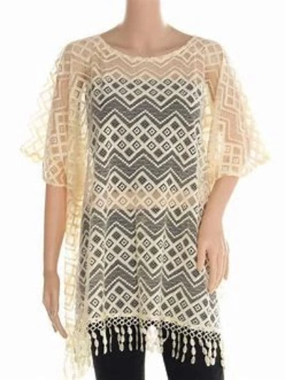 Crochet Sheer Cover-Up Poncho (One Size)