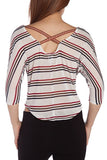 Stripe Crop Top Blouse