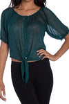 Emerald Green Sheer top