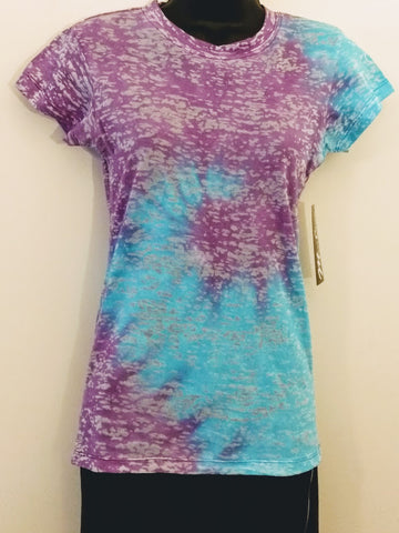 Mari Clare Burnout Tie Dye Fitted Tees