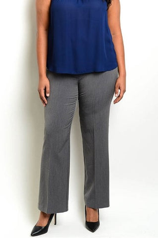 Women's Charcoal Gray Dress Pants (Plus Size)